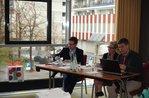 Workshopreferenten und -referentin, v.l.n.r.: Dr. Volker Born (ZDH), Ingrid Schleimer (Ministerium für Arbeit, Gesundheit und Soziales, NRW), Matthias Anbuhl (DGB)